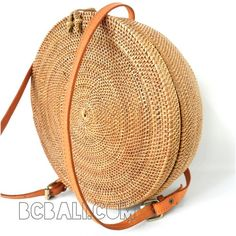 circle bagpack large straw rattan ata handmade - circle bagpack large straw rattan ata bali handmade
