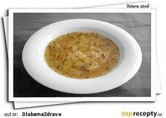 Vaňkova česnečka recept - TopRecepty.cz Cheeseburger Chowder, Cantaloupe, Soup, Fruit, The Fruit, Soups, Chowder