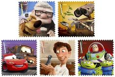 I hardly ever send snail mail anymore, but I'm excited about these Pixar stamps coming out in August!  So cute!