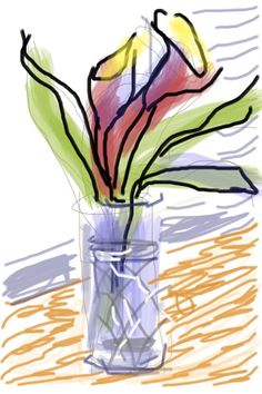 Another David Hockney on iPad