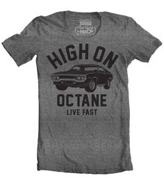 Women's HoO High on Octane Road Runner Big Block Muscle Car Gym Workout T-Shirt