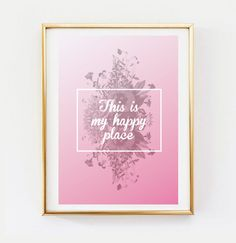 Happy Poster Wall Decor Minimal Art Happy by LovelyPosters on Etsy