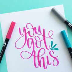 """432 Likes, 22 Comments - Amanda Kammarada HandLettering (@amandakammarada) on Instagram: """"My mantra for today as I teach my very first lettering class! I've got this!! . . Are you in the…"""""""