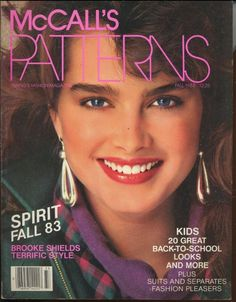 Brooke Shields covers McCall's Patterns Magazine, Fall 1983. Photo by Patrick Demarchelier.