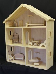 Large Doll House with furniture, Arns Woodshop