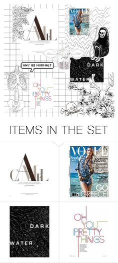 """""""People & Print"""" by sparklingpearl619 on Polyvore featuring art"""