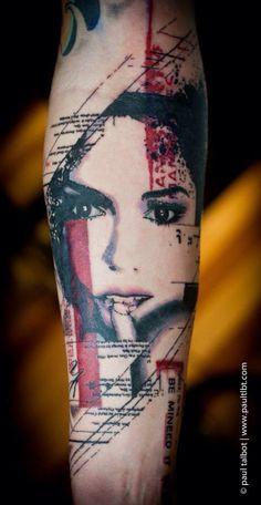 Unique forearm tattoos, artwork by very talented tattoo artists from around the world. Tattoo Trash, Trash Polka Tattoo, Sexy Tattoos, Body Art Tattoos, Tattoos For Guys, Tatoos, Marcelo Tattoo, Half Sleeve Tattoos Forearm, Tattoo Forearm