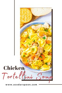 Chicken Tortellini Soup, Chicken Soup Recipes, Easy Recipes, Cooking Recipes, Healthy Recipes, Healthy Dinner Options, Soup Appetizers, Vegetarian Soup, Bowl Of Soup