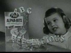 VINTAGE 1958 ALPHA BITS CEREAL COMMERCIAL - IT MAY BE THE FIRST COMMERCIAL