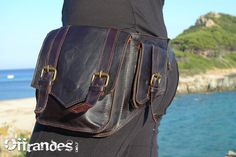 Leather Utility Belt BaG   FaB   BROWN  // leather by offrandes, $120.00