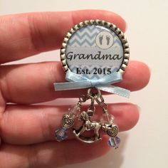 A personal favorite from my Etsy shop https://www.etsy.com/listing/207229704/grandma-pin-or-grandma-to-be-pin-baby