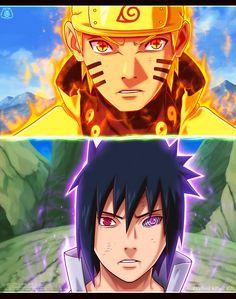 Naruto and Saskue