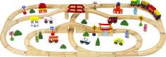Ciuchcia - Kolejka dla dzieci drewniana SMILY PLAY 80 el.