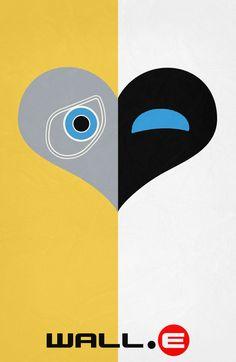 WALL·E (2008) ~ Minimal Movie Poster by Begum Ozdemir #amusementphile