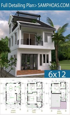 Dream House Plans, Modern House Plans, Small House Plans, House Floor Plans, Duplex House Design, Small House Design, Modern House Design, The Plan, Style At Home