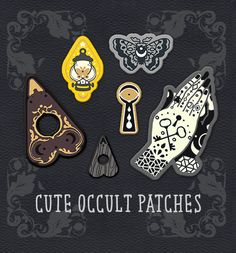 ✦ ITEM DETAILS ✦ Occult patches by Coey Kuhn. 5 patches are guaranteed, 6th additional limited-run patch. PREORDERS ARE OVER. All those who