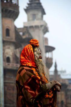 INDIA: Holy Man on the Varanasi Ghats