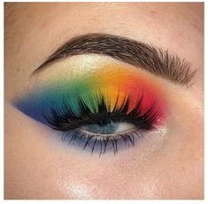 Puppy Eyes Makeup, Doll Eye Makeup, Crazy Eye Makeup, Rainbow Eye Makeup, Orange Eye Makeup, Bright Eye Makeup, Korean Eye Makeup, Dramatic Eye Makeup, Eye Makeup Steps