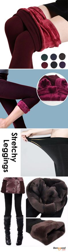 Women Ladies Thermal Fleece Lined Stretchy Leggings Pants Thick Elastic Pantyhose. Stretchable, Elastic, Fits most women/girls. Sexy and warm, suitable for spring, autumn, winter. 4 colors to choose. Shop now!