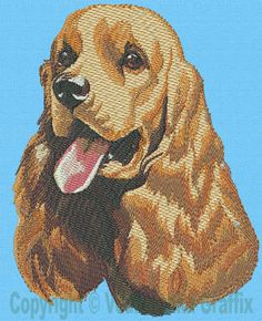 "Cocker Spaniel cross stitch almost like the one my mother did of our cocker, ""Lucky"" in the late '70's."
