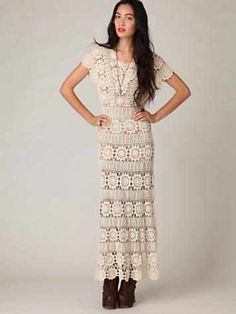 Crinochet: Free People Maxi Dress with circle motif and other Runway Crochet Pieces