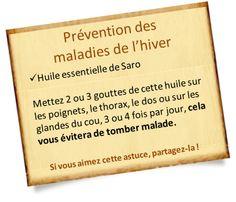 Huile essentielle saro : Une huile géniale pour les maladies de l'hiver et contre la fatigue
