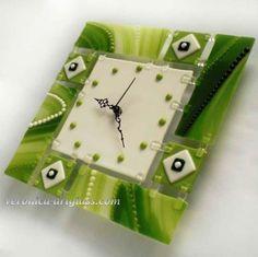 Relojes | Fusionadas cuencos de cristal, relojes, decoración, ataúdes y candelabros en la técnica de la fusión