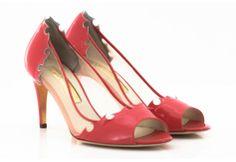rupert sanderson upper shoes MACE woman heels corail