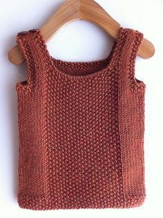 Knit from the bottom up, this is a simple vest for the little guys in your life…