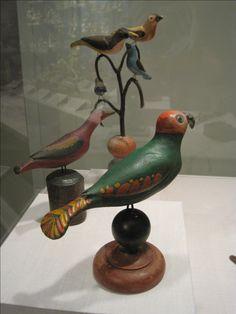 Folk Art Bird Carvings at the Winterthur Museum Home of Henry Francis Du Pont