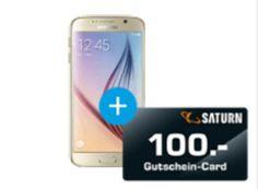 Saturn: Samsung Galaxy S6 dank zweiter Gutschein für 344 Euro https://www.discountfan.de/artikel/tablets_und_handys/saturn-samsung-galaxy-s6-dank-zweiter-gutschein-fuer-344-euro.php Bei Saturn ist derzeit das Samsung Galaxy S6 für 449 Euro im Angebot. Das Besondere dabei: Zum Lieferumfang gehört ein Saturn-Gutschein über 100 Euro, obendrein lockt ein Sonder-Rabatt von fünf Euro, sodass man für das Premium-Handy nur 344 Euro zahlt. Saturn: Samsung Galaxy S6 dank zweite