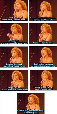This is why we love Alex Kingston. This is why I can't get over them. Mattex gives me life. I'm not sorry for that