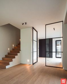 80 Awesome Photography Of House Staircase Railing Design Pivot Doors, Sliding Patio Doors, Internal Doors, Interior Columns, Interior Stairs, Staircase Railings, Modern Staircase, Wood Handrail, House Staircase