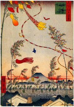 Utagawa Hiroshige Tanabata Festival Art Print Poster Posters at AllPosters.com