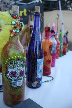 Corpus Christi -Dia de los Muertos Festival- Lana's bottles
