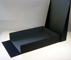 Desktop paper box / sorter with angled lid and magnetic clasp Packaging Carton, Box Packaging, Packaging Design, Origami, Handmade Boxes, Envelope Box, Paper Engineering, Presentation Folder, How To Make Box