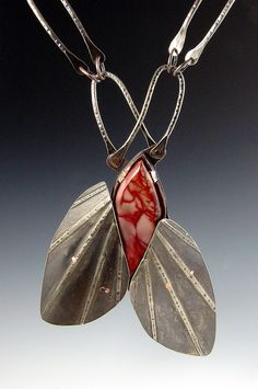 Fabulous formed metal necklace by Wendy Edsall-Kerwin
