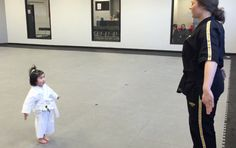 3 Year Old Taekwondo White Belt Reciting Student Creed