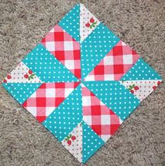 60+blocks shown for a sampler quilt Love these colors...sooooo retro inspired..perfect in vintage campers!!!!!