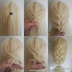 Pictorial of a fishtail mermaid braid