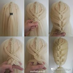 Pictorial of a fishtail mermaid braid