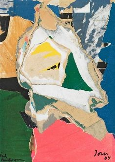 Artwork by Asger Jorn, Composition, Made of Decollage Painting Collage, Collage Art, Franz Kline, Jasper Johns, Willem De Kooning, Jackson Pollock, Modern Art, Contemporary Art, Neo Dada