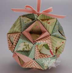paper ornament (She has a great tutorial to make this ornament.)