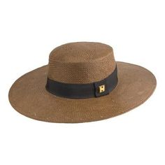 61aa374c9db Peter Grimm Jotter Straw Boater Brown (US One Size (Hat 6 5 8