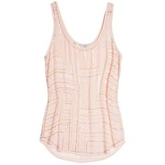 GUESS Illusion Beaded Top ($65) ❤ liked on Polyvore featuring tops, shirts, tank tops, tanks, blusas, desert breeze, sexy tops, pink sequin top, pink shirt and guess shirts
