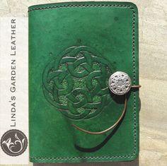 Handmade Genuine Leather CelticCircle Kindle Cover