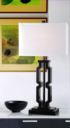 "Wildon Home ® Octo 29"" H Table Lamp with Rectangular Shade 