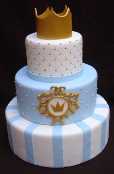 Baby Birthday Themes, Boys 1st Birthday Cake, Prince Birthday Party, Baby Shower Cakes, Baby Shower Desserts, Cheap Baby Shower, Baby Boy Shower, Little Prince Party, Prince Cake