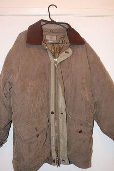 Men's Rainforest Down Parka Coat L Brown Excellent Condition #Rainforest #Parka