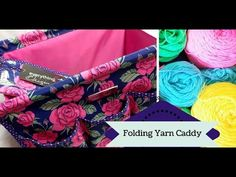 Storing Crochet Projects in the Folding Yarn Caddy by Everything Mary